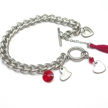 Alloys Collection /chain/ heart - bransoletka