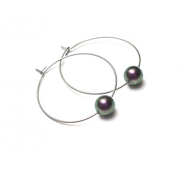 Alloys Collection /one pearl/green -violet