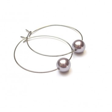 Alloys Collection /one pearl/powder violet vol. 2 kolczyki