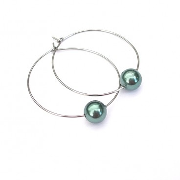 Alloys Collection /pearls/ sea green - kolczyki
