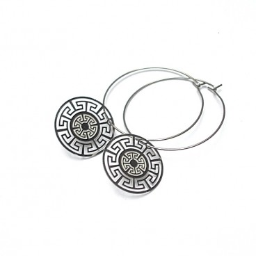 Alloys Collection /silver rosette/ vol. 3 kolczyki