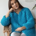 Blue Chunky sweter