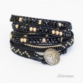 Bransoletka Boho Black and Gold