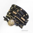 Bransoletka Boho Black and Gold - 2
