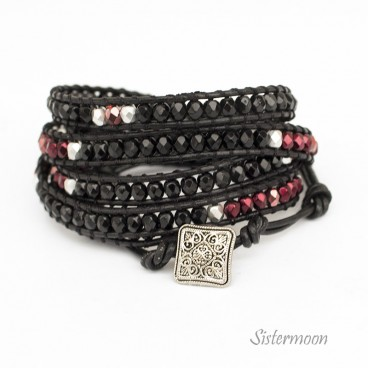 Bransoletka Boho Black and Red