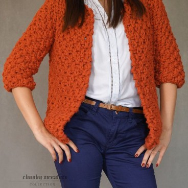 Brick-red Chunky sweter
