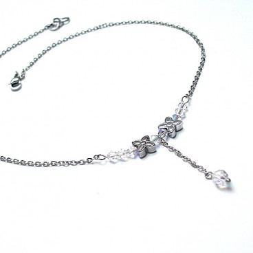 Choker - Alloys Collection - /crystal flower/ naszyjnik