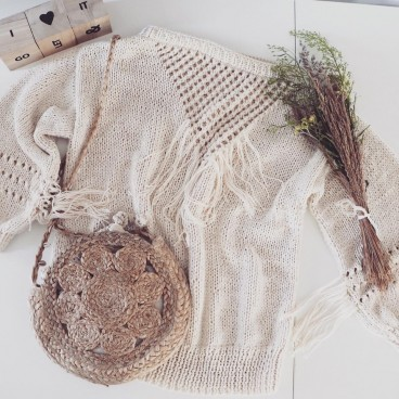 Into the sun sweater, boho sweter
