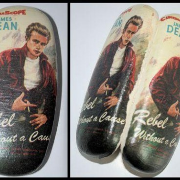 JAMES DEAN etui na okulary decoupage