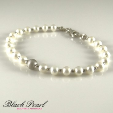Pearls in Silver bransoletka