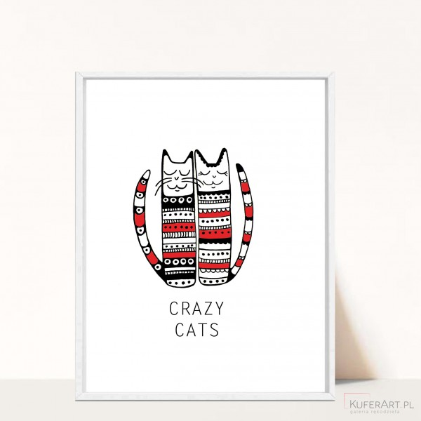 Plakat Cat Family - A3