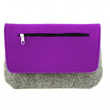 Purple clutch, kopertówka z filcu
