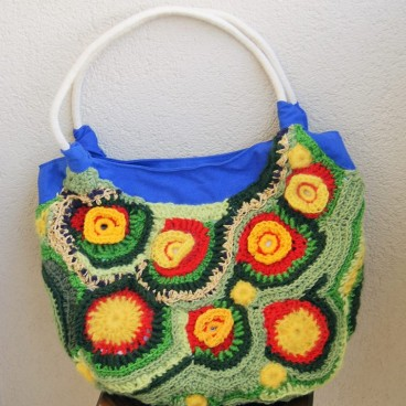 Torebka Flower Bag 2, freeform crochet