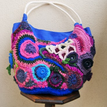 Torebka Flower Bag, freeform crochet