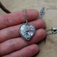 Wisiorek Swarovski Heart Crystal CAL, wire wrapping, stal chirurgiczna - 5
